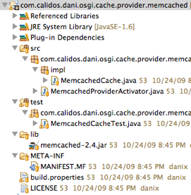Memcached bundle project view