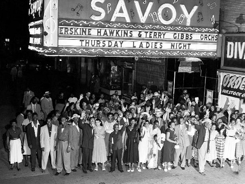 Savoy, featuring a gig by Erskine Hawkins and Terry Gibbs